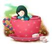可爱小仙子0016,可爱小仙子,人物,红色杯子 可爱女孩