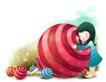 可爱小仙子0017,可爱小仙子,人物,糖果 红色糖果