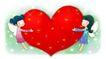 可爱小仙子0026,可爱小仙子,人物,两个仙子 一颗大红心