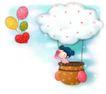 可爱小仙子0030,可爱小仙子,人物,白云 气球