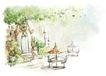惬意情景0022,惬意情景,情景,绿树笼罩 惬意季节