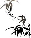竹子荷花植物0047,竹子荷花植物,节日喜庆,国画竹叶
