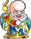 传统节日0046,传统节日,节日喜庆,秃头 老汉 寿星
