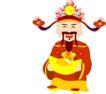 传统节日0054,传统节日,节日喜庆,财神爷 送财 手抱元宝