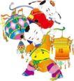 传统节日0058,传统节日,节日喜庆,挑灯笼 猜灯迷