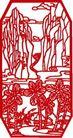 古典图案0046,古典图案,节日喜庆,传统剪纸 山不画