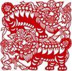古典图案0049,古典图案,节日喜庆,耍狮子