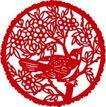 古典图案0052,古典图案,节日喜庆,果枝爬鸟