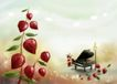 快乐福娃0071,快乐福娃,影楼摄影设计,一架钢琴