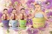 鲜花宝贝0075,鲜花宝贝,影楼摄影设计,小婴儿
