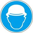 常用标识0052,常用标识,喷绘设计,戴帽 防护头部