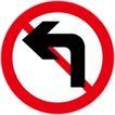 常用标识0073,常用标识,喷绘设计,禁止左转