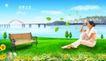 风景人物0023,风景人物,平面设计模板,