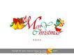 圣诞快乐,庆典花型字体,字体设计,