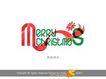 圣诞快乐2,庆典花型字体,字体设计,