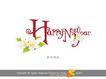 新年快乐3,庆典花型字体,字体设计,