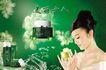 绿色调0054,绿色调,化妆品广告,