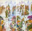 山水分层104,山水风景,中堂画,
