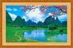 山水分层39,山水风景,中堂画,