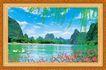 山水分层46,山水风景,中堂画,