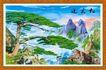 山水分层48,山水风景,中堂画,