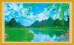 山水分层54,山水风景,中堂画,