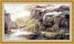 山水分层82,山水风景,中堂画,