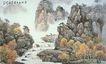 山水分层97,山水风景,中堂画,