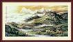 山水分层98,山水风景,中堂画,