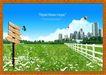 韩国分层风景15,韩国风景,中堂画,