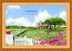 韩国分层风景16,韩国风景,中堂画,