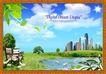 韩国分层风景20,韩国风景,中堂画,
