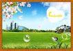 韩国分层风景22,韩国风景,中堂画,