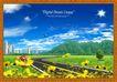 韩国分层风景23,韩国风景,中堂画,