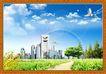 韩国分层风景29,韩国风景,中堂画,