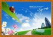 韩国分层风景33,韩国风景,中堂画,