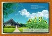 韩国分层风景35,韩国风景,中堂画,