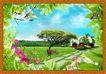 韩国分层风景40,韩国风景,中堂画,