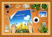韩国分层风景5,韩国风景,中堂画,